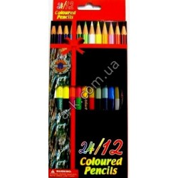 "Карандаши ""Coloured-Pencils""-2х стр. 12цв."