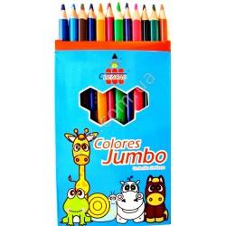 """Карандаши цветные"""" Jumbo"""" - 12 цветов трехгранные."""
